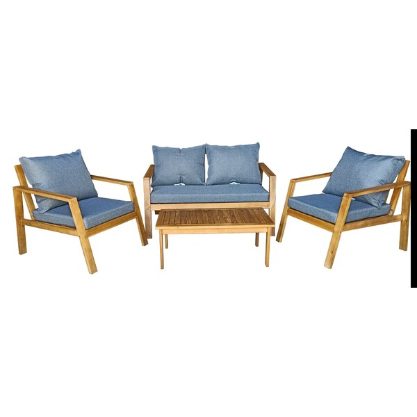 Songer 4 Piece Sofa Seating Group With Cushions By Rosecliff Heights