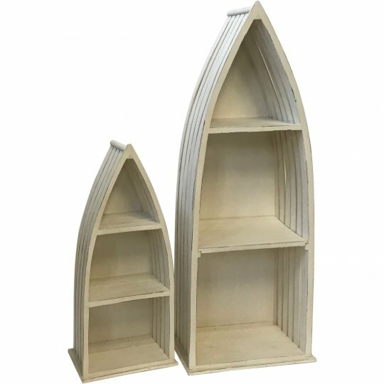 Croker Wooden Boat 2 Piece Wall Shelf Set by Rosecliff Heights