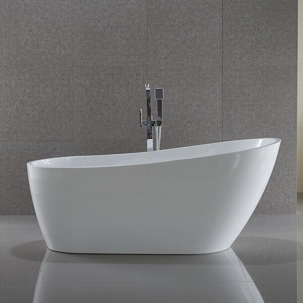 Trend Series 67'' x 31.5'' Freestanding Soaking Bathtub by ANZZI
