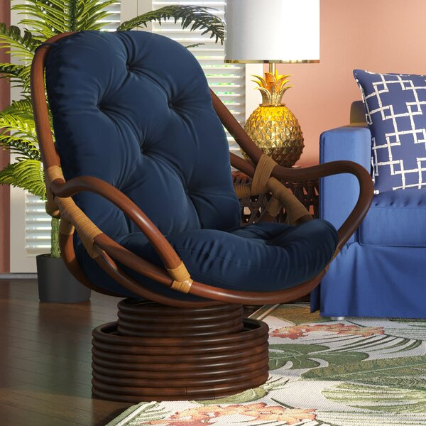 Jimena Swivel Papasan Chair by Beachcrest Home