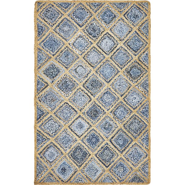 McRae Hand-Braided Blue Area Rug by Laurel Foundry Modern Farmhouse