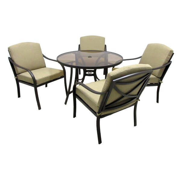 Verdugo 5 Piece Dining Set With Cushions By Darby Home Co by Darby Home Co Coupon