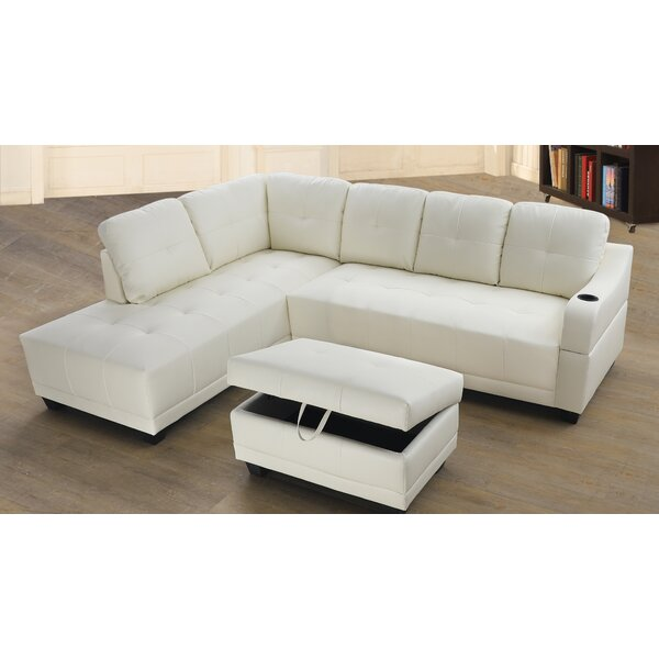 Leelou Right Hand Facing Sectional with Ottoman by Latitude Run