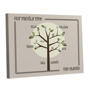Personalized Gift Family Tree Graphic Art on Canvas by JDS Personalized Gifts