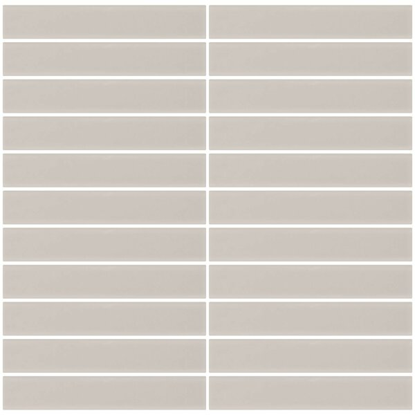 Bijou 16 Frosted 1 x 6 Glass Subway Tile in Creme Bone White by Susan Jablon
