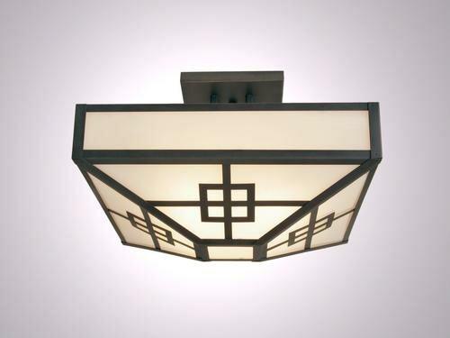 Nobles 4-Light Post Drop Semi Flush Mount Ceiling Light by Millwood Pines