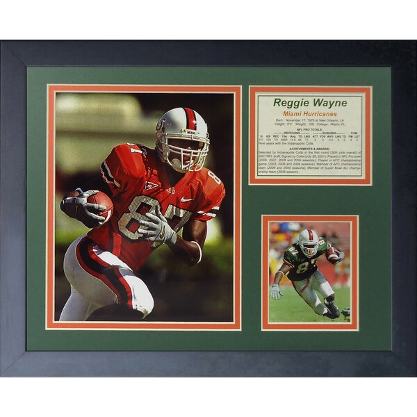 Reggie Wayne - Miami Hurricanes Framed Photographic Print by Legends Never Die