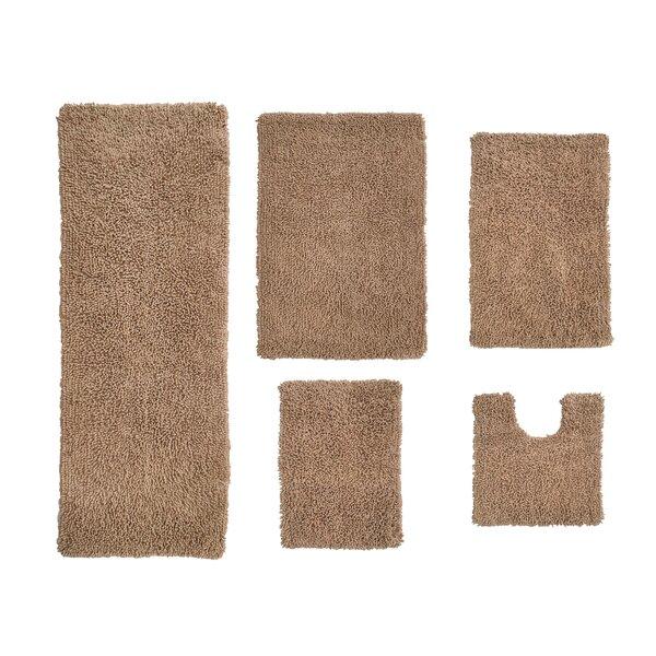Hazley Multiple 100% Cotton Non-Slip piece Bath Rug Set