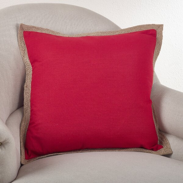 Saint John Classic Trim Cotton Throw Pillow by Beachcrest Home