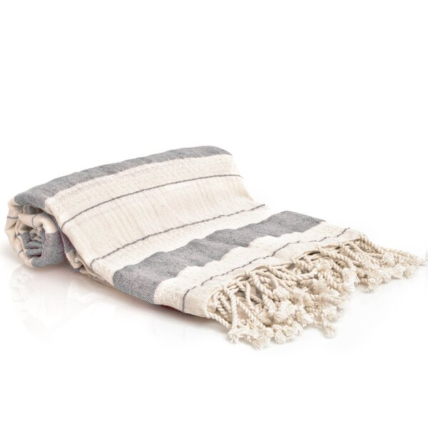 Sandburg Peshtemal Turkish Cotton Beach Towel by Beachcrest Home