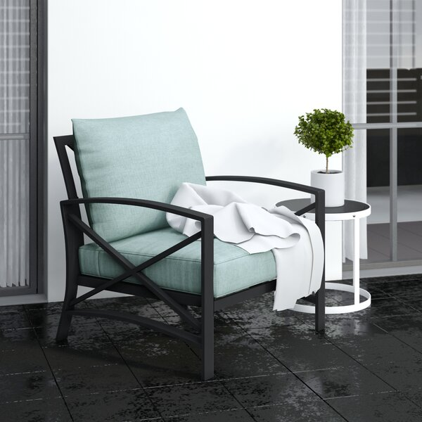 Emmett Patio Chair With Cushions By Highland Dunes by Highland Dunes 2020 Coupon