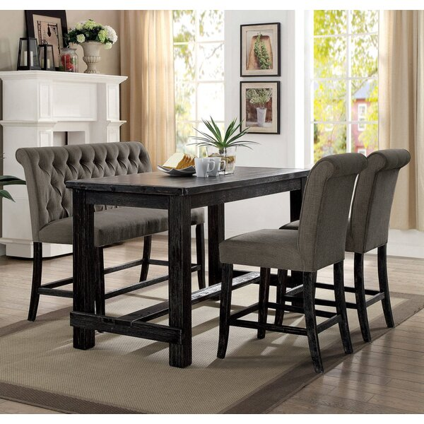 Duhon 4 Piece Counter Height Dining Set by Gracie Oaks Gracie Oaks