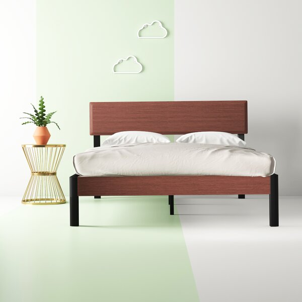 Quentin Wood Slat and Metal Platform Bed by Hashtag Home