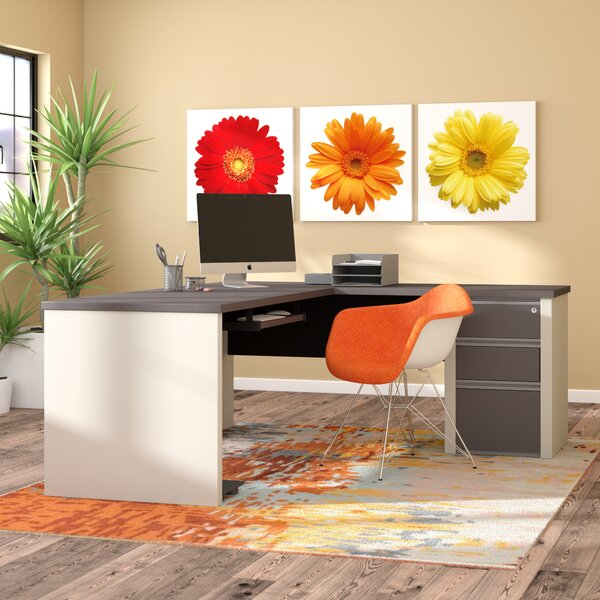 Karla L-Shape Executive Desk by Latitude Run