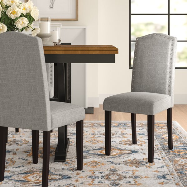 Kallas Upholstered Dining Chair (Set Of 2) By Three Posts