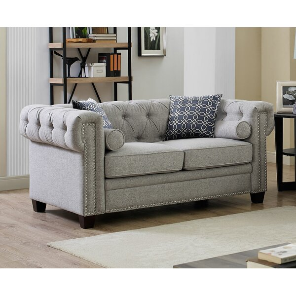Shopping Web Quan Chesterfield Loveseat by Canora Grey by Canora Grey