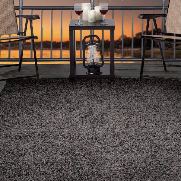 Shag Gray Indoor/Outdoor Area Rug by Plymouth Home