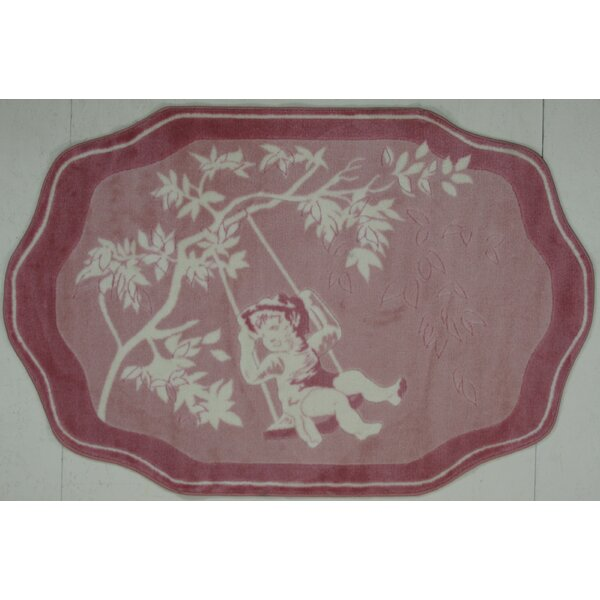 Supreme Pink Toile Red/White Area Rug by Fun Rugs