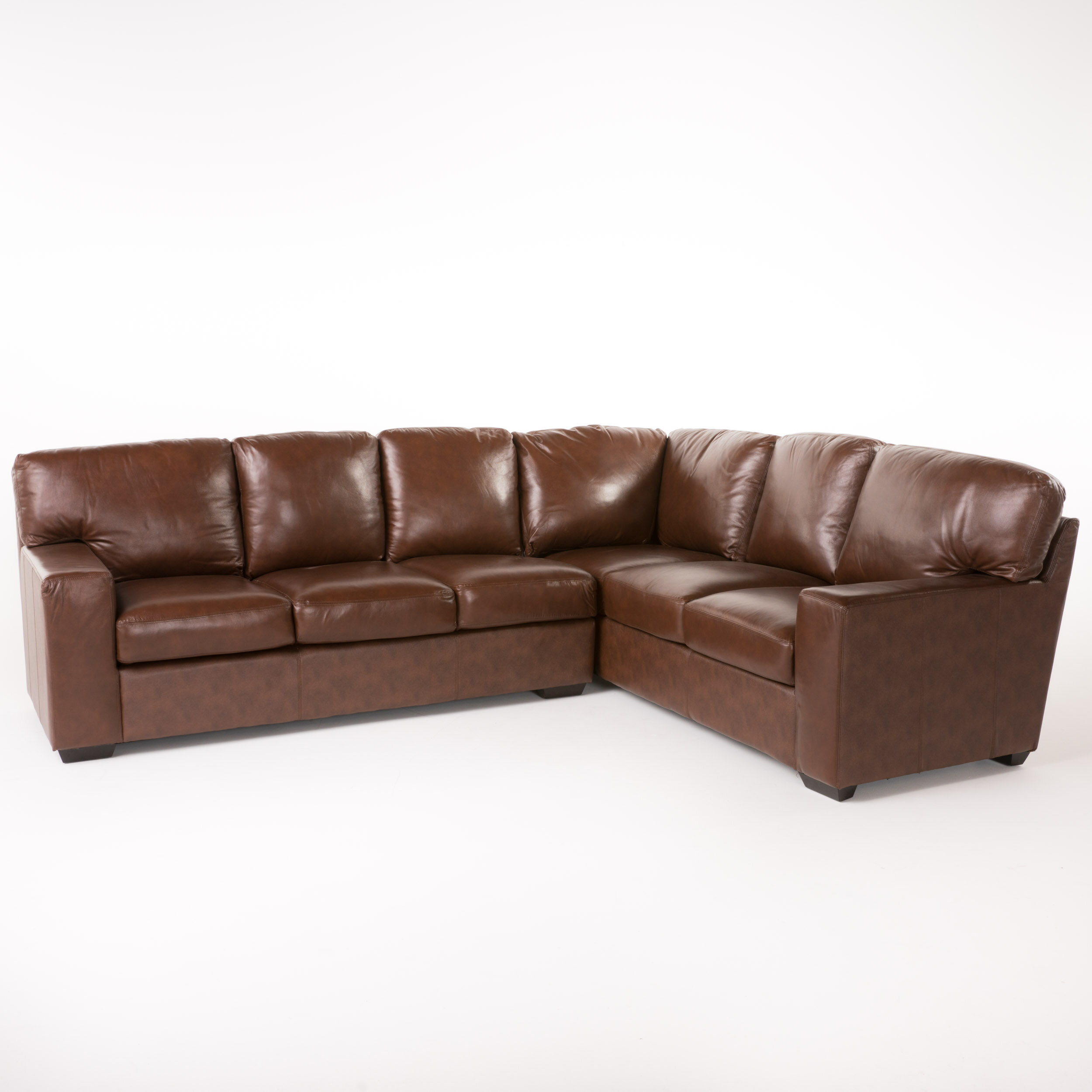 Superb Ipswich Right Hand Facing Leather Sectional Evergreenethics Interior Chair Design Evergreenethicsorg