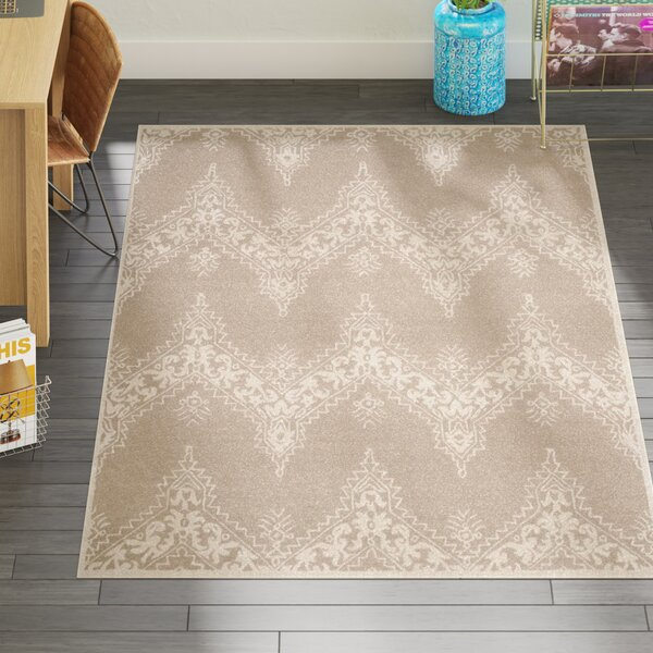 Nioka Hand-Tufted Beige/Ivory Area Rug by Bungalow Rose
