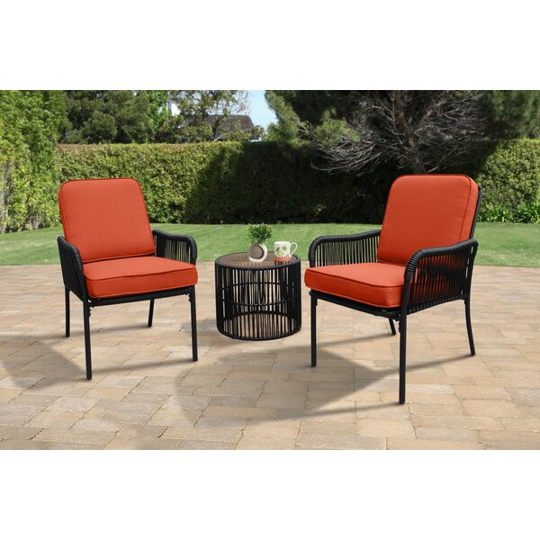 Mccart 3 Piece Seating Group with Cushions by Bungalow Rose