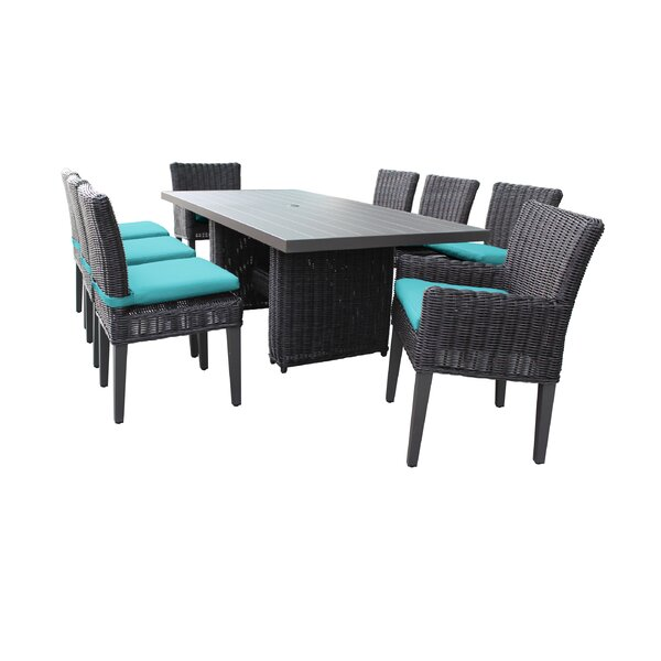Fairfield 9 Piece Outdoor Patio Dining Set with Cushions by Sol 72 Outdoor Sol 72 Outdoor