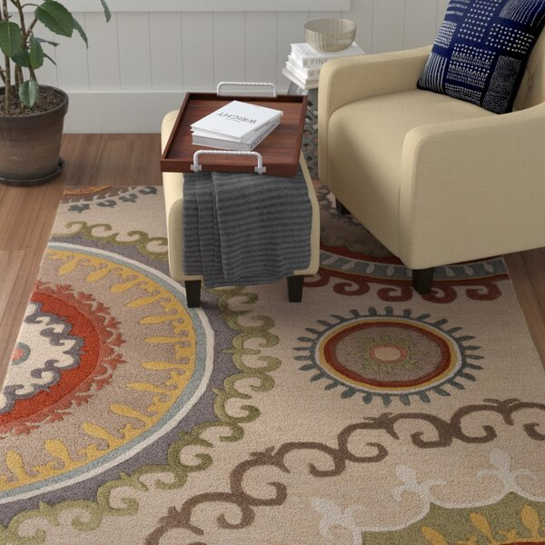 Costanzo Hand-Tufted Ivory Area Rug by Red Barrel Studio