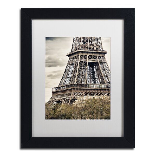 View of the Eiffel Tower by Philippe Hugonnard Framed Photographic Print by Trademark Fine Art