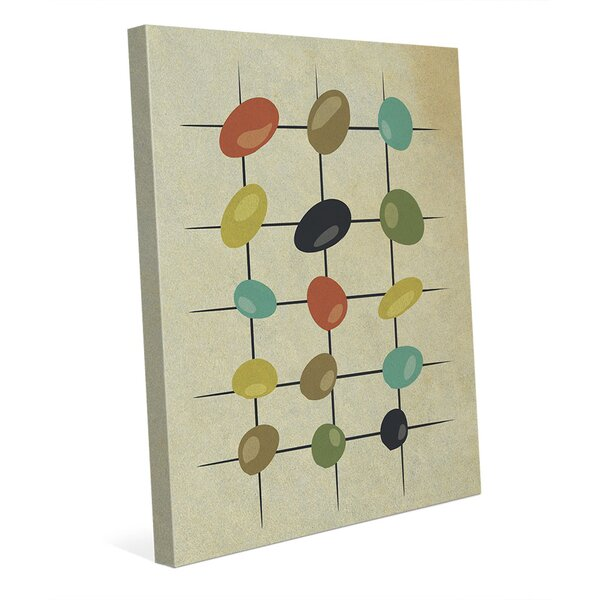 Khaki Skipping Stones Graphic Art on Wrapped Canvas by Click Wall Art