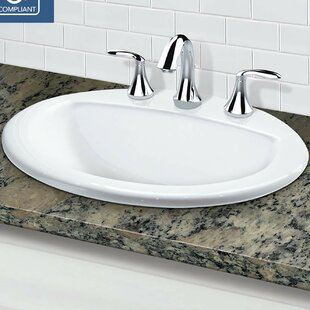 Great choice Classically Redefined Vitreous China Oval Drop-In Bathroom Sink with Overflow By DECOLAV