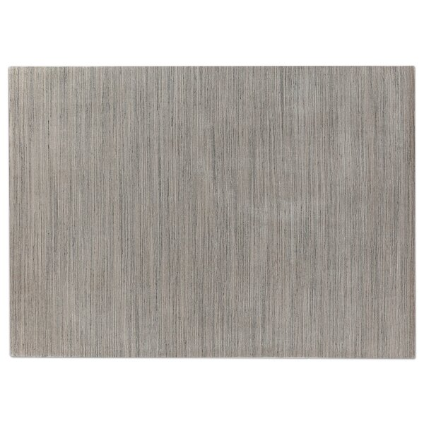 Palazzo Hand Woven Silk Dark Gray/Gray Area Rug by Exquisite Rugs