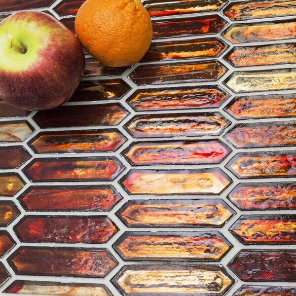 Fargin 0.9 x 3.1 Glass Mosaic Tile in Sunset by Splashback Tile