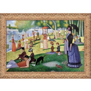Sunday Afternoon on the Island of La Grande Jatte' by Georges Seurat Framed Painting on Canvas by Tori Home