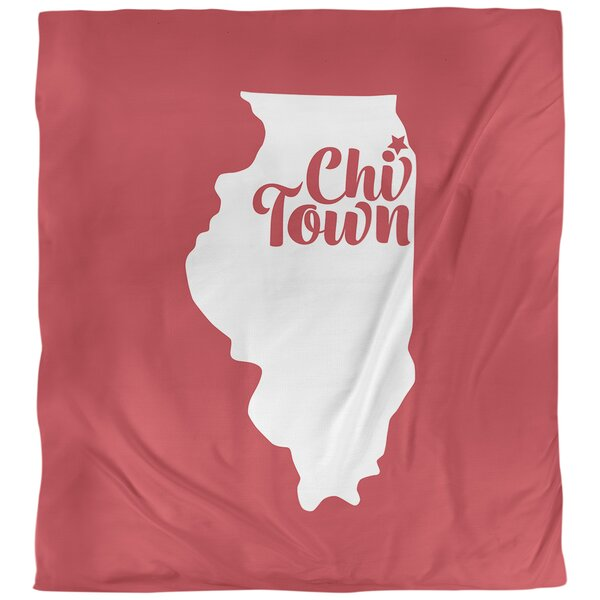 Illinois Chi Town Single Duvet Cover