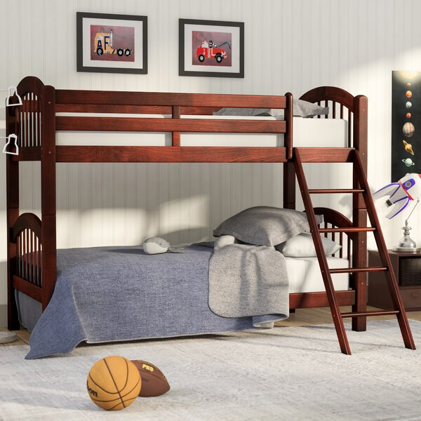 Cassidy Arched Twin over Twin Bunk Bed by Viv + Rae
