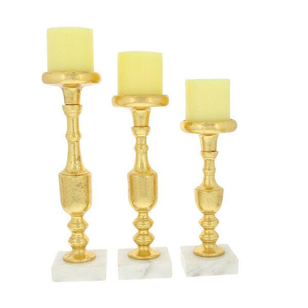 Classic 3 Piece Candlestick Set by Everly Quinn