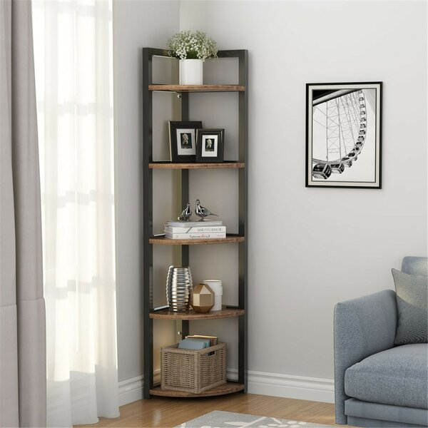 Summerall 5 Tier Corner Bookcase by Gracie Oaks