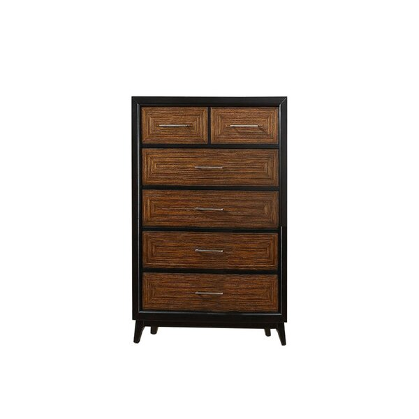 Preas Dual Tone 6 Drawer Accent Chest by Union Rustic