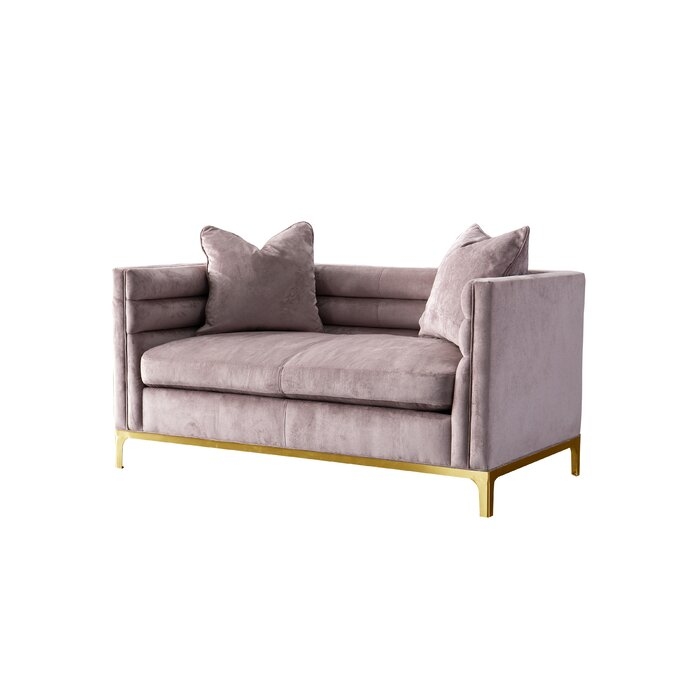 Astounding Acanva Modern Tufted Velvet Down Filled Loveseat Andrewgaddart Wooden Chair Designs For Living Room Andrewgaddartcom