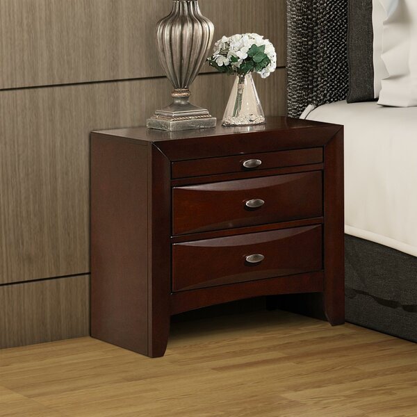 Franz Wooden 3 Drawer Nightstand by Brayden Studio