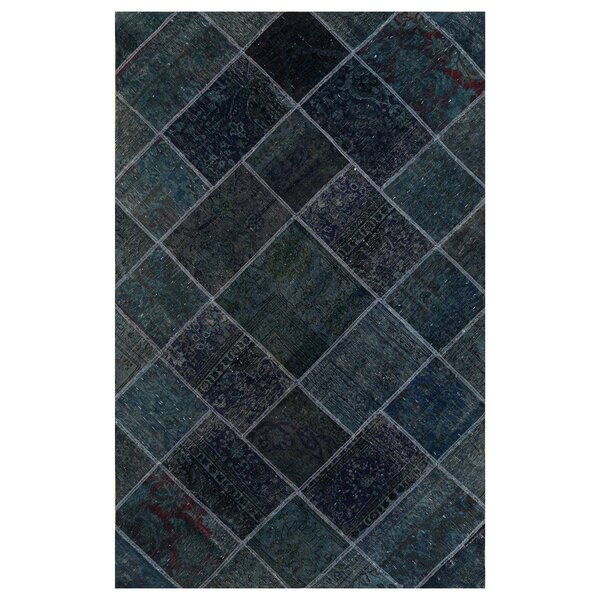 One-of-a-Kind Kingsfield Hand-Knotted Wool Blue Area Rug by Bloomsbury Market