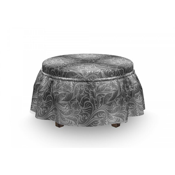 Fern Leaves Flowers Ottoman Slipcover (Set Of 2) By East Urban Home