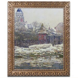 The Church at Vetheuil 1879 by Claude Monet Framed Painting Print by Trademark Fine Art
