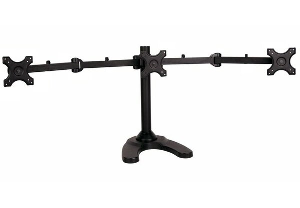 Triple Monitor Articulating Arm Desktop Mount for