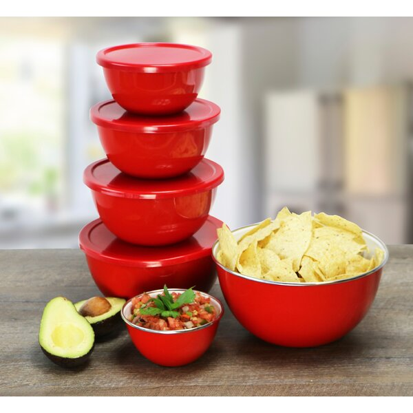 Calypso Basics 12 Piece Bowl Set in Red by Reston Lloyd