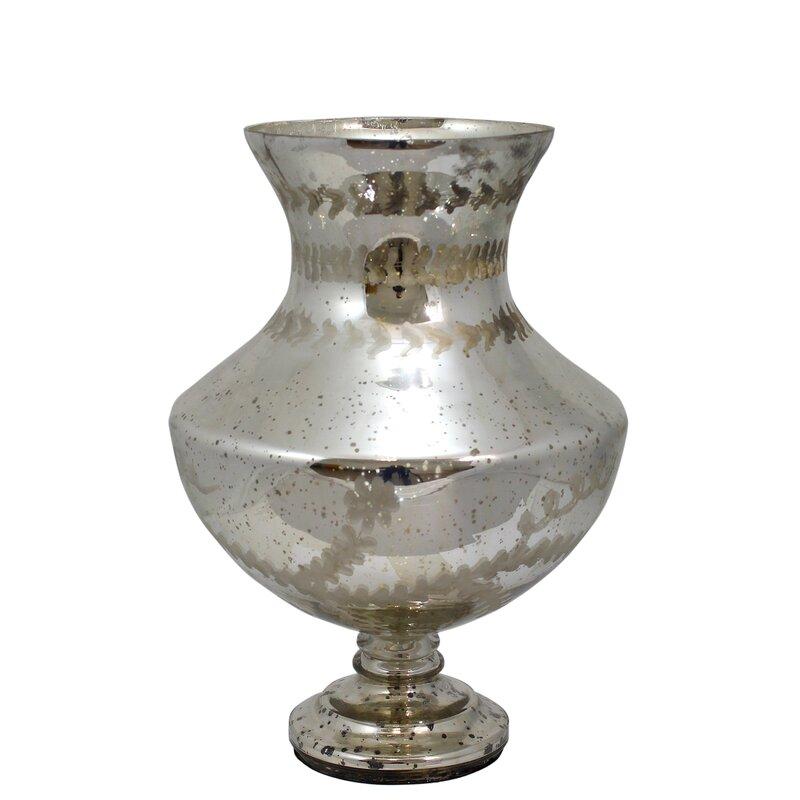 Silver Mercury Glass Table Vase #mercuryglass #silvervase