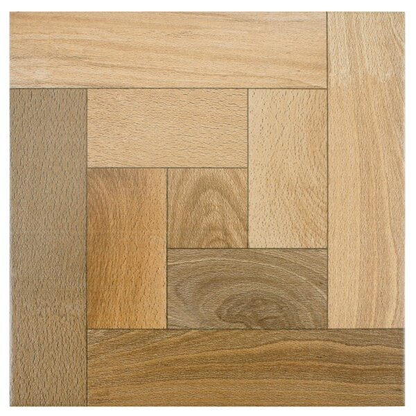 Cobi 12.5 x 12.5 Ceramic Wood Look/Field Tile in Nogal by EliteTile