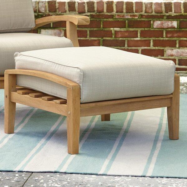 Summerton Teak Ottoman with Cushions by Birch Lane™