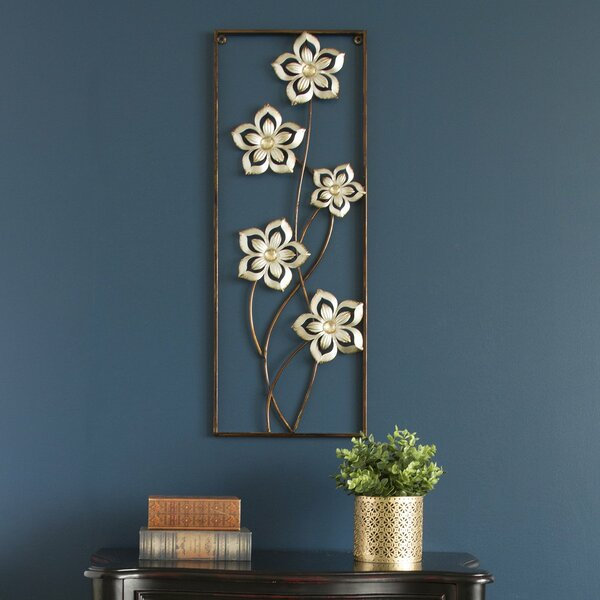 Floral Panel Metal Wall Décor by Red Barrel Studio