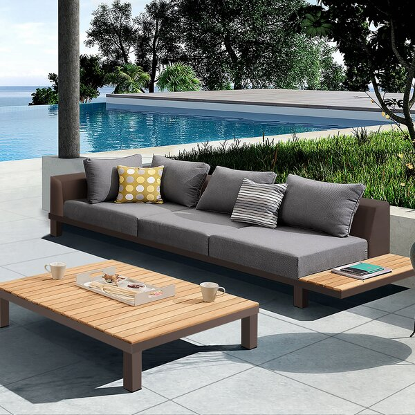 Darcie 5 Piece Teak Sectional Seating Group